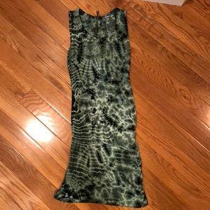 Green & Black Tie Dye Young Fabulous & Broke Dress